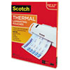 Scotch™ Letter Size Thermal Laminating Pouches, 3 mil, 11 1/2 x 9, 100 per Pack
