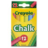 Crayola® Chalk, Assorted Colors, 12 Sticks/Box