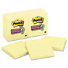 Post-it® Notes Super Sticky Super Sticky Notes, 3 x 3, Canary Yellow, 12 90-Sheet Pads/Pack