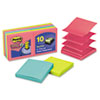 Post-it® Pop-up Notes Super Sticky Pop-Up Notes, 3 x 3, Jewel Pop, 10 90-Sheet Pads/Pack