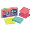 Post-it® Pop-up Notes Super Sticky Pop-Up Refill, 3 x 3, 3 Jewel Pop Colors, 6 90-Sheet Pads/Pack