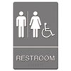 Headline® Sign ADA Sign, Restroom/Wheelchair Accessible Tactile Symbol, Molded Plastic, 6 x 9
