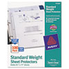 Avery® Top-Load Polypropylene Sheet Protectors, Letter, Semi-Clear, 100/Box