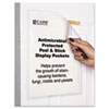C-Line® Antimicrobial Peel and Stick Display Pockets, 8 1/2 x 11, 10/Pack