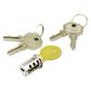 Alera® Key-Alike Lock Core Set, Brushed Chrome