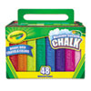 Crayola Washable Sidewalk Chalk, 48 Assorted Bright Colors