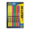 HI-LITER® Fluorescent Pen Style Highlighter, Chisel Tip, 6/Set