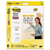 Post-it® Easel Pads Self-Stick Wall Easel Ruled Pad, 25 x 30, White, 20 Sheets/Pad