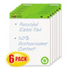 Post-it® Easel Pads Self-Stick Easel Pads, 25 x 30, White, Recycled, 6 30-Sheet Pads/Carton
