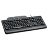 Kensington® Pro Fit Wired Media Keyboard, Full Size, Black