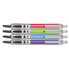 Write Dudes Retractable Gel Pens, Pop Series, Black Ink, Assorted Barrels, 4 per set