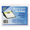 AT-A-GLANCE® Flip-A-Week Desk Calendar Refill with QuickNotes Format, 5 5/8