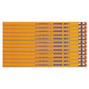 Write Dudes USA Gold Series #2 Pencils, Cedar, Yellow, Unsharpened, Dozen