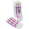 MMF Industries Self-Adhesive Currency Straps, Violet, $2,000 in $20 Bills, 1000 Bands/Box