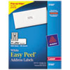 Avery® Easy Peel Laser Address Labels, 1 x 2-5/8, White, 3000/Box