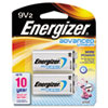 Energizer® Advanced Lithium Batteries, 9V, 2/Pack