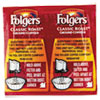 Folgers® Coffee, Classic Roast Regular, 9/10oz Vacket Pack, 42/Carton