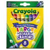 Crayola® Washable Crayons, Large, 8 Colors/Box