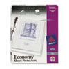 Avery® Top-Load Poly Sheet Protectors, Economy Gauge, Letter, Clear, 50/Box