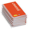 Universal® Wirebound Memo Book, Narrow Rule, 5 x 3, White, 12 50-Sheet Pads/Pack