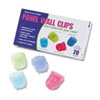 Advantus® Fabric Panel Wall Clips, Standard Size, Assorted Cool Colors, 20/Box