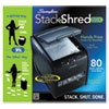 Swingline® Stack-and-Shred 80X Hands Free Shredder, Cross-Cut, 80 Sheets, 1 User