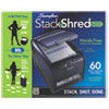 Swingline® Stack-and-Shred 60X Hands Free Shredder, Cross-Cut, 60 Sheets, 1 User