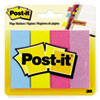 Post-it® Page Markers, Ultra Colors, 50 Strips/Pad, 4 Pads/Pack