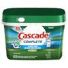 Cascade® Complete ActionPacs, Fresh Scent, 1.82 lb Tub, 46/Tub, 6 Tub/Carton