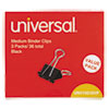 Universal® Medium Binder Clips, Steel Wire, 5/8