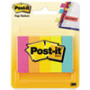 Post-it® Page Flag Markers, Assorted Brights, 100 Strips/Pad, 5 Pads/Pack