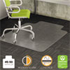 deflecto® DuraMat Moderate Use Chair Mat for Low Pile Carpet, 45 x 53, Wide Lipped, Clear