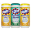 Clorox® Disinfecting Wipes, 7 x 8, Fresh Scent/Citrus Blend, 35/Canister, 3/Pack