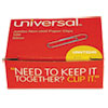 Universal® Nonskid Paper Clips, Wire, Jumbo, Silver, 100/Box, 10 Boxes/Pack