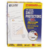 C-Line® Standard Weight Polypropylene Sheet Protector, Clear, 2