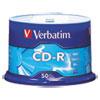 Verbatim® CD-R Discs, 700MB/80min, 52x, Spindle, Silver, 50/Pack