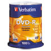Verbatim® DVD-R Discs, 4.7GB, 16x, Spindle, Silver, 100/Pack