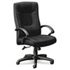 basyx® VL441 Series High-Back Executive Chair, Black Fabric and Frame, 5-Star Base