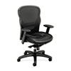 basyx® VL701 High-Back Swivel/Tilt Work Chair, Black Mesh/Leather