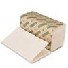Boardwalk® Boardwalk Green Single-Fold Towels, Natural White, 9x10, 250/Pack, 16 Pks/Carton