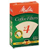 Melitta® Coffee Filters, Natural Brown Paper, Cone Style, 8 to 12 Cups, 1200/Carton