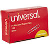 Universal® Paper Clips, Small (No. 1), Silver, 100 Clips/Box, 10 Boxes/Pack