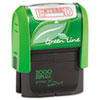 2000 PLUS® 2000 PLUS Green Line Message Stamp, Entered, 1 1/2 x 9/16, Red