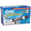 EXPO® Low-Odor Dry-Erase Marker, Broad Chisel Tip, Black, Dozen
