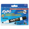 EXPO® Low-Odor Dry-Erase Marker, Broad Chisel Tip, Assorted Colors, 4/Set