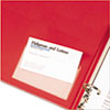 Cardinal® HOLDit! Poly Business Card Holders, Top Load, 3-3/4 x 2-3/8, Clear, 10/Pack