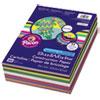 SunWorks® Construction Paper Smart-Stack, 58lb, 9 x 12, Assorted, 300/Pack