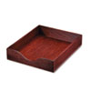 Carver Hardwood Letter Stackable Desk Tray, Mahogany