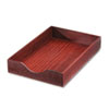 Carver™ Hardwood Legal Stackable Desk Tray, Mahogany