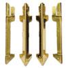 Carver™ Hardwood Stackable Desk Tray, Four-Posts, Brass